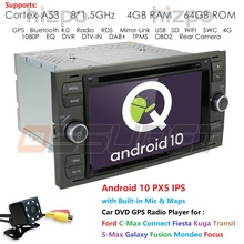 2Din DSP IPS Car DVD Player Android GPS In Dash For Ford Transit Focus Connect S MAX Kuga Mondeo Galaxy Radio Multimedia Wifi BT