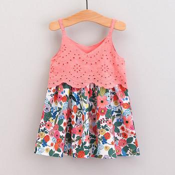 40 # maluch dzieci sukienka dziewczynka kwiatowy drukowane bez rękawów koronkowa szyta sukienka Sling letnia sukienka typu princesse ubrania Vestidos tanie i dobre opinie POLIESTER CN (pochodzenie) Do kolan V-neck REGULAR Na co dzień Dobrze pasuje do rozmiaru wybierz swój normalny rozmiar