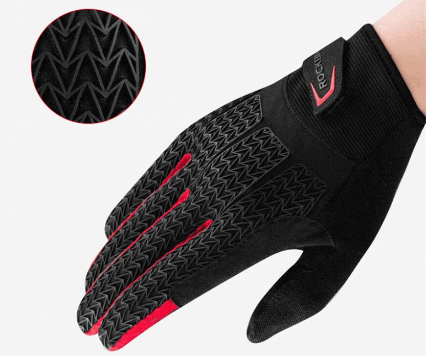 ROCKBROS Autumn Winter Sport Gloves Men Cycling Windproof MTB Bike Rockbros GEL Pad Shockproof Full Finger Mittens