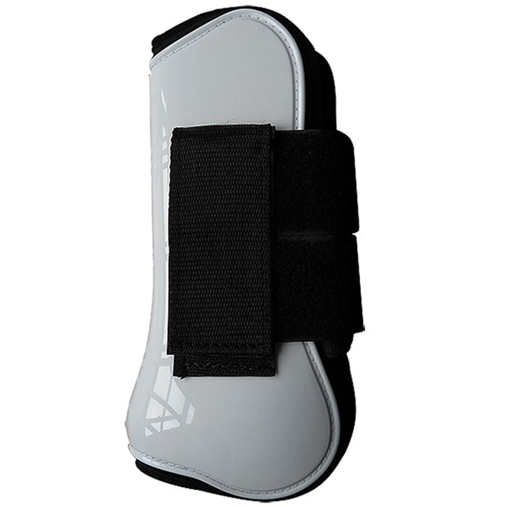 4pcs Training Shock Absorbing Adjustable Horse Tendon Boot Running PU Shell Leg Guard Protective Gear Equestrian Equipment