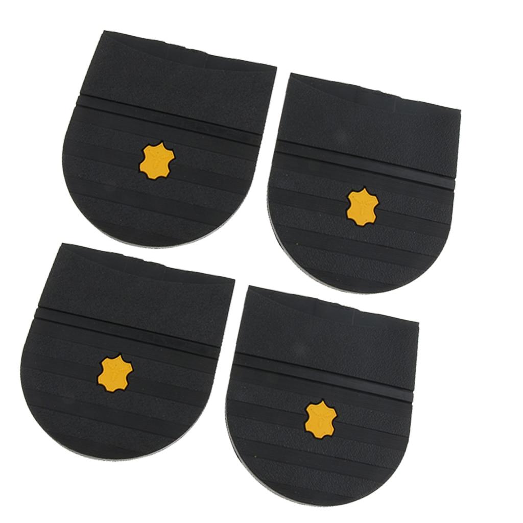 2 пары резиновый клей на пятках колодки для ремонта подошвы обуви набор для мужчин женщин-черный