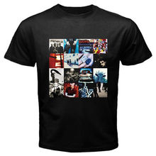 Make T Shirts MenS Short Sleeve Fashion 2019 Crew Neck U2 Achtung Baby Album Rock Band Bono Tee