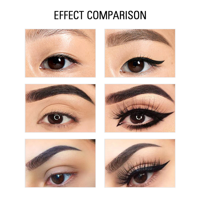SACE LADY Black Waterproof Liquid Eyeliner Pencil Quick Dry Long Lasting Matte Eye liner Smudge-Proof Cosmetic Beauty Makeup 2