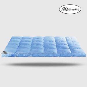 Image 2 - Chpermore 100% ホワイトグースダウン羽毛マットレス10センチメートル5星ホテル肥厚畳綿マットレスカバーキング女王サイズ