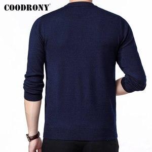 Image 3 - COODRONY marque Pull hommes automne hiver épais chaud Pull Homme classique décontracté col rond Pull hommes cachemire laine tricots 91109