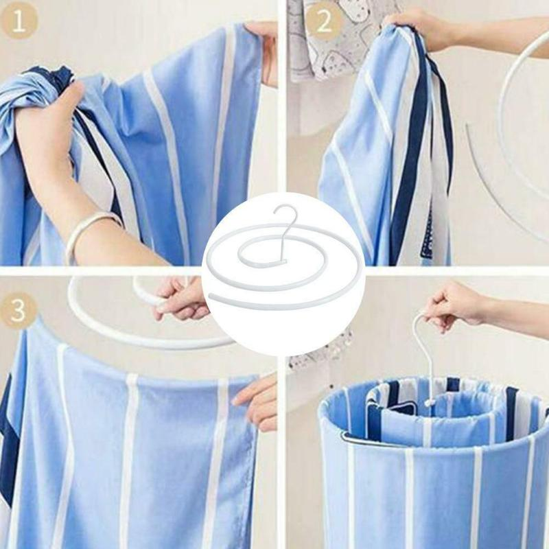 Spiral Shaped Sheet Quilt Blanket Hanger Round Rotating Clothes Drying Hook Quilt Design Blanket Outdoor Home Indoor Hanger