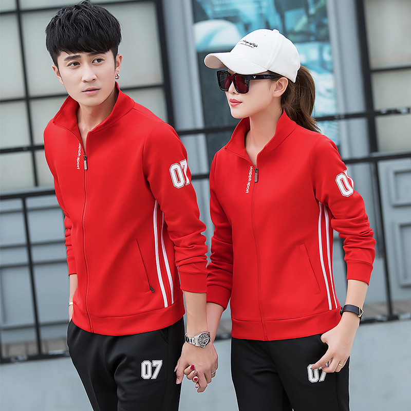 Spring Clothing Men's Long-sleeve Suit Spring And Autumn Teenager High School Students Sports Trend Hoodie Casual Couples Coat