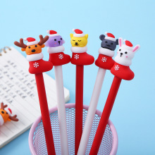 4 pcs / lot gel pen christmas pen stylo kawaii stationery cute pens for school supplies papeleria caneta kawaii set gel-ink 4 pcs set gel pen cat caneta kawaii pens for school animal stationary canetas school supplies lapices tinta gel stylo