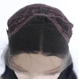 Image 5 - MRWIG  Long Yaki Straight Synthetic Lace Front Wig Mid Part Glueless Heat Resistant Fiber  Lady Women 150%Density