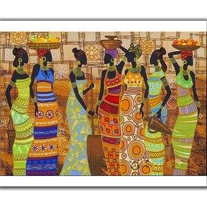 Новое поступление, 5D алмазная картина, африканская Женская Алмазная вышивка, мозаика, полный квадратный Набор для вышивки крестом, настенно...