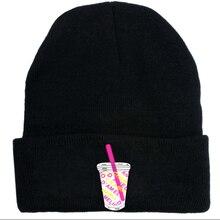 Черная белая вязаная шапка модная теплая шапка шерстяная шапка Корейская версия Осень-зима вязаная шапка Charli Damelio унисекс для взрослых
