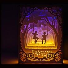 3d бумажный светильник резьба по дереву художественное украшение
