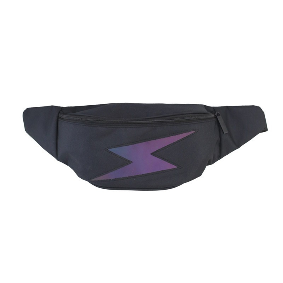 2020 Fashion Simple Lightning Print Waist Bag For Women Street Photographs Chest Bag Lightweight Phone Bag Teen Beach Travel Bag
