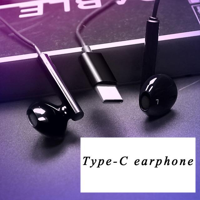 TYPE-C Earphone Subwoofer Wired In-Ear Headset