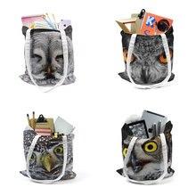 С изображением симпатичной Совы сумка для Для женщин сумки из