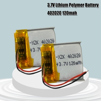 402020 3.7V 120mAh Lithium Polymer Rechargeable Battery for MP3 MP4 MP5 bluetooth headset smart bracelet image