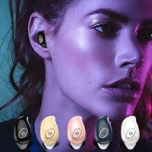 Mini kablosuz kulaklık kulak 5.0 kulaklık dahili mikrofon olmadan şarj kutusu