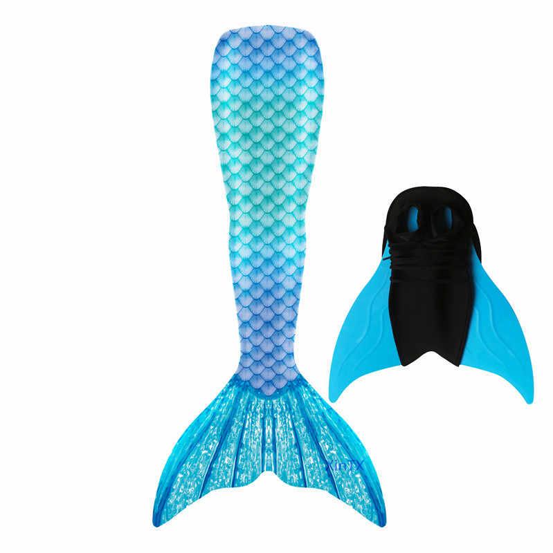 Nieuwe Collectie! Volwassen Kinderen Zeemeermin Staarten Met Monofin Badpak Jurk Voor Zwemmen Cosplay Kostuum