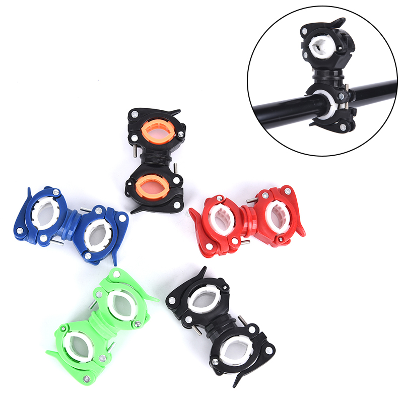 Bicycle Light Bracket LED Torch Headlight Pump Stand  Mount 360 Degree Rotatable