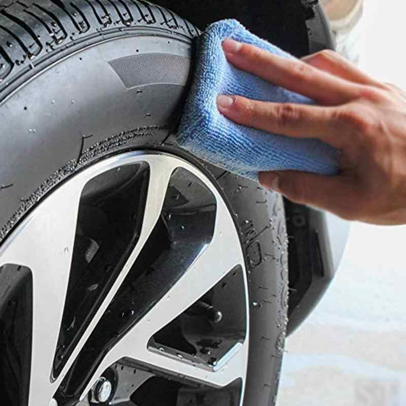 1 unidad de lavado de coches limpieza encerado pulido esponja bloque Auto tela de microfibra tipo Terry caja pulida herramientas de mantenimiento Accesorios