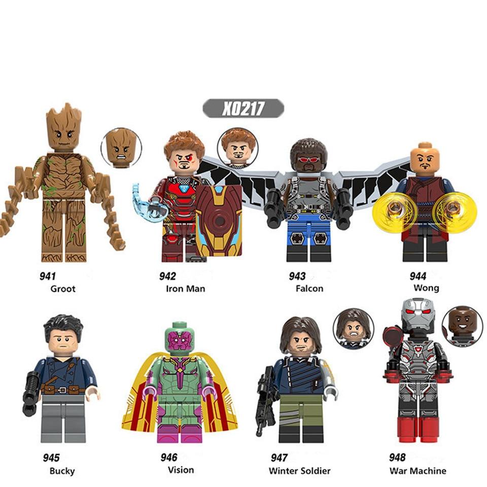 Avengers Infinity War Super Heroes Building Blocks Iron Man Falcon Vision Wong Bucky Winter Soldier War Machine Bricks Legoing
