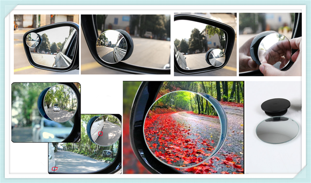 Car borderless small round blind spot <font><b>mirror</b></font> For <font><b>Peugeot</b></font> <font><b>206</b></font> 307 406 407 207 208 308 508 2008 3008 4008 6008 301 408 image