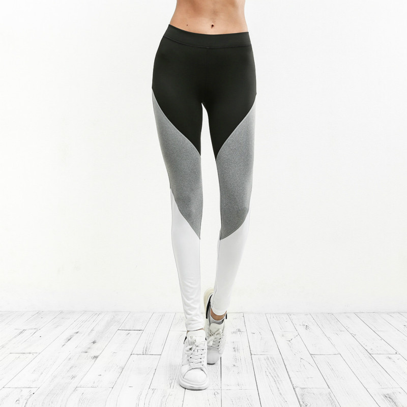 2019 New Slim Yoga Leggings Women Fitness Workout Legging Elastic High Waist Pencil Yoga Pants Leggins Sports Casual in Yoga Pants from Sports Entertainment