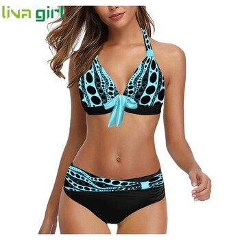 Plus Size sexy Bikini Set Swimwear Tankini Swimwear Women Padded Swimwear Summer Brazilian Beachwear Biquini Swimsuit Beachwear фото