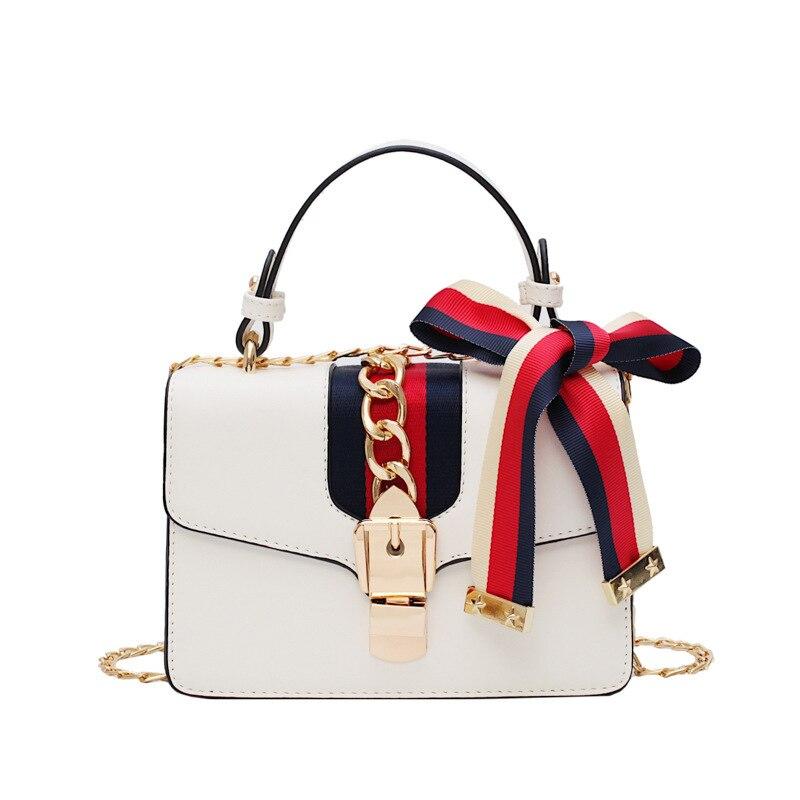 2019 new fashion temperament bag female fashion casual simple wild chain shoulder slung small square bag