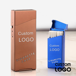Papierośnica papierosy darmowe grawerowane Logo dostosowane Slim papieros tytoń dym Cigaret Box pojemność przechowywania pojemnik prezent