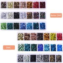 2000 unids/caja SS10 caliente del arreglo DMC diamantes de imitación con recogiendo lápiz de cristal de vidrio de hierro sobre diamantes de imitación para La Ropa Decoración DIY F0231
