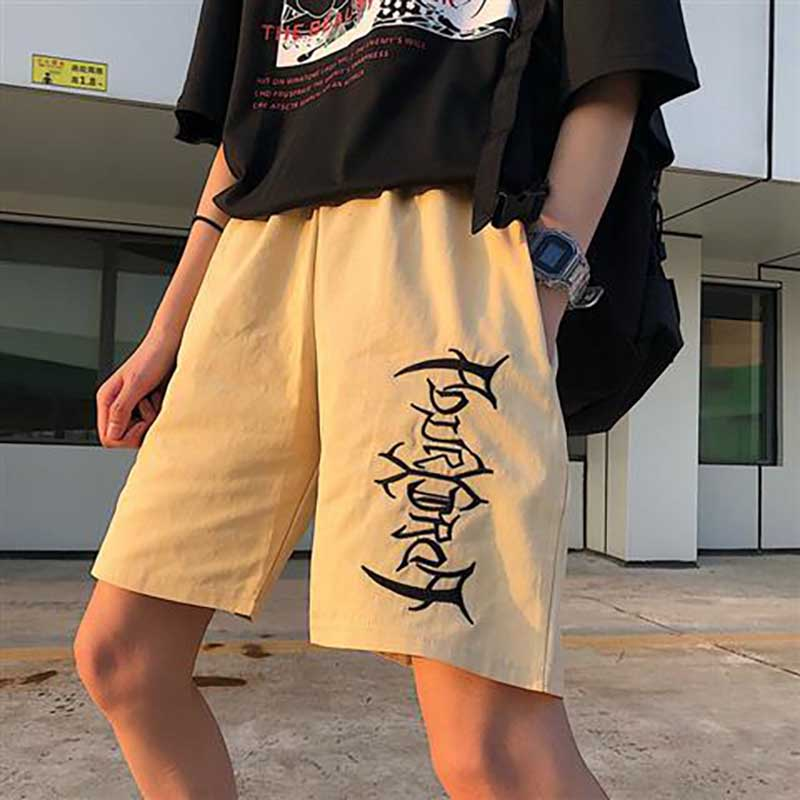 Candy Color Embroidery Summer Day Sandy Women Shorts Harajuku Cool Fast Dry Thin Tide Brand Fashion Jogging Casual Sweatpants