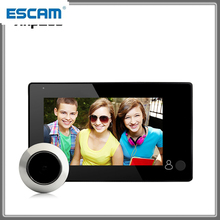 1080P Peephole Door Camera 4.3 Inch Color Screen With Door Bell LED Lights Electronic Doorbell Viewer Security ESCAM M4300B
