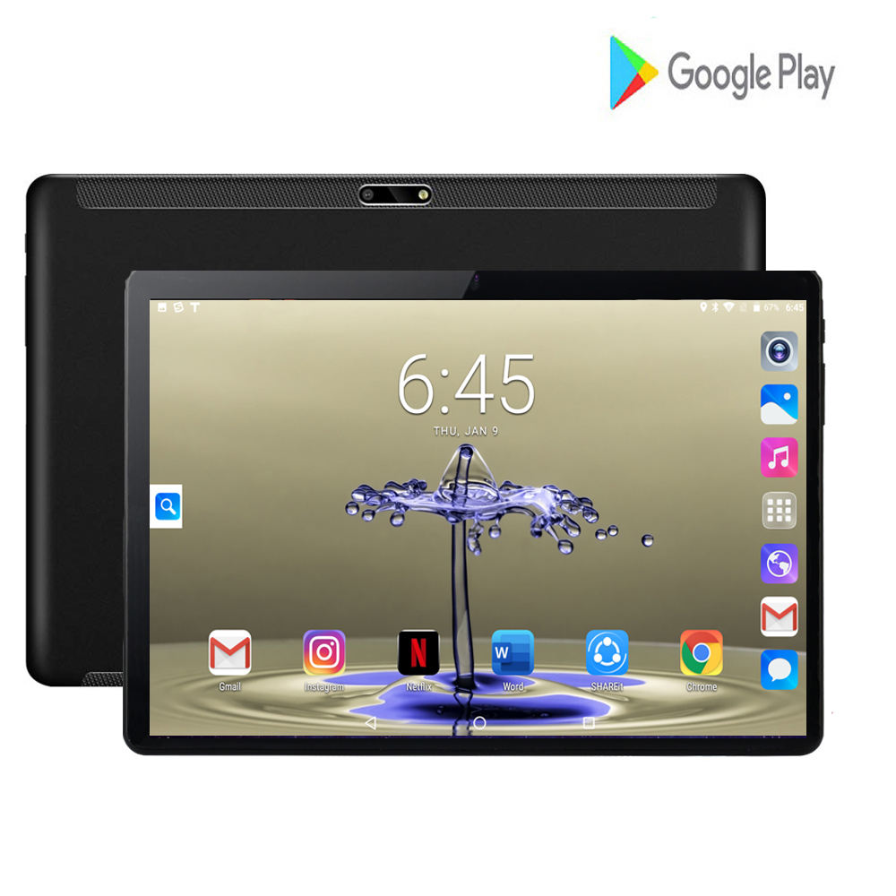 2020 Global Version 10 Inch Tablet PC 2GB RAM 32GB ROM HD Glass IPS Dual SIM Card 3G Wifi GPS Android 7.0 Tablet 10.1