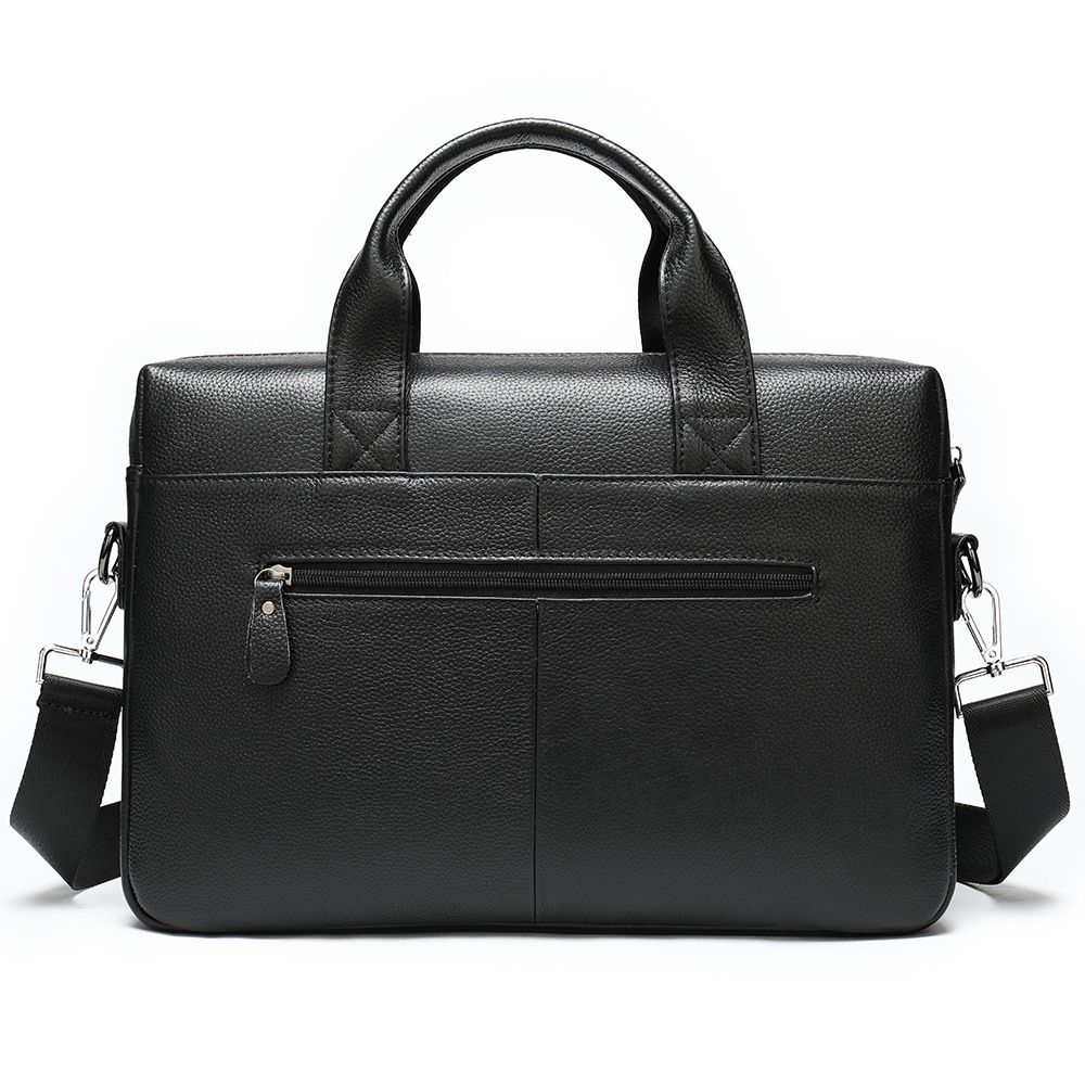 genuine leather bag Business Affairs Head Layer Cowhide 14 Inch Computer Briefcase Man Will Capacity Single Shoulder Handbag hot