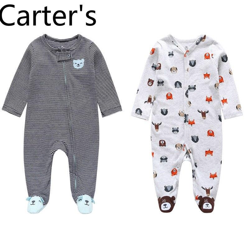 Осенний цельный комбинезон для маленьких мальчиков с длинными рукавами от Carter, одежда для девочек 24 месяца, Одежда для новорожденных, Одежд...