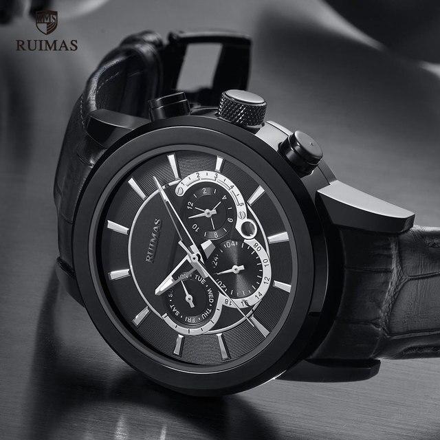 RUIMAS Men's Leather Chronograph 6767
