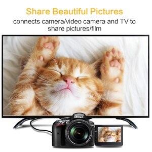 Image 5 - وصلة HDMI صغيرة ذكر ذكر 1 متر 2 متر 3 متر 5 متر كابل HDMI V1.4 يدعم إيثرنت ، 1080P ، ثلاثية الأبعاد ، والصوت العودة لأجهزة لوحية DVD PC HDTV