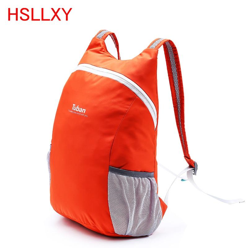 High Quality 7 Color Lightweight Nylon Foldable Backpack Waterproof Backpack Portable Pack For Women Men Travel Shoulder Bags