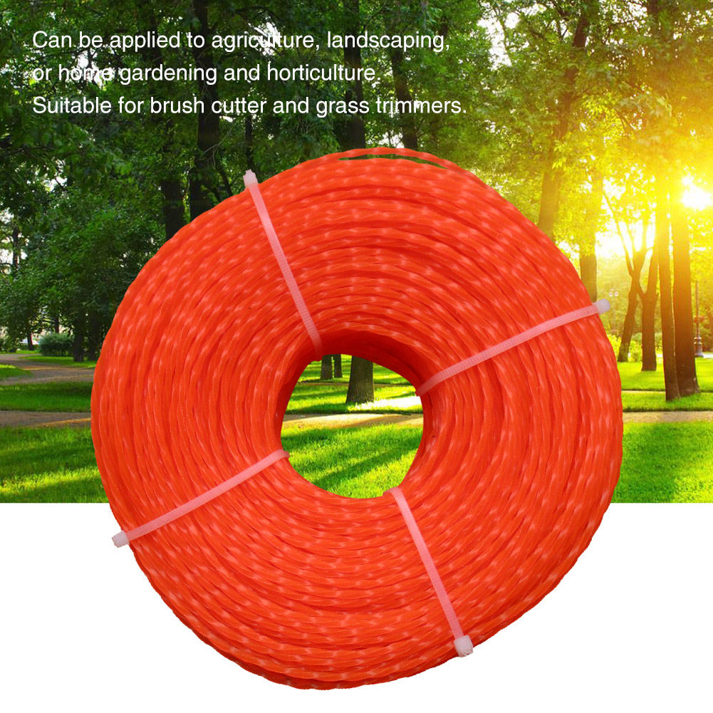 Universal Grass Cutting 3.0mm Landscaping Accessories Durable Trimmer Line Garden Twist Type Agriculture Brushcutter Lawn Rope