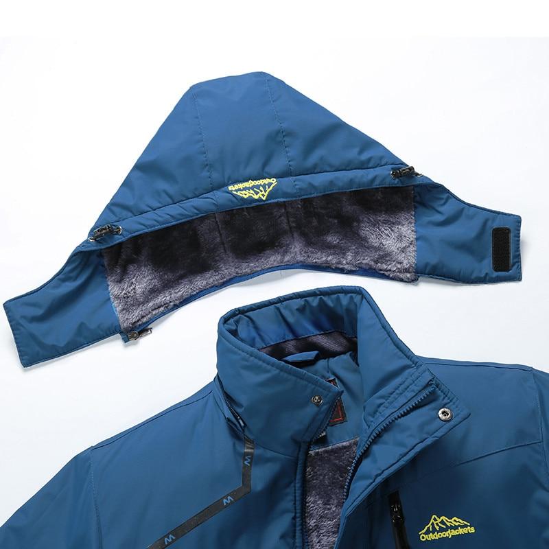 Veste de Ski hommes et femmes imperméable polaire veste de neige manteau thermique pour extérieur coupe-vent Camping randonnée Ski Snowboard veste - 5