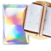 Soporte de placa holográfica para uñas, organizador de placa de Arte de uñas Rectangular, Cuadrado redondo, 4 colores, 216 ranuras, jh
