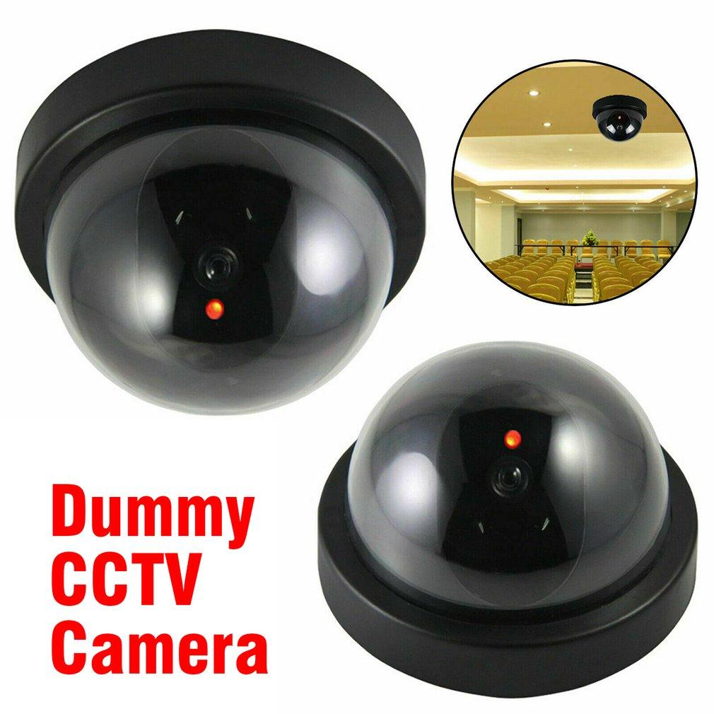 MIni CCTV Camera Fake/Dummy Dome Camera Flash rood Licht installeren Out/indoor Surveillance Camera Dummy CCTV Camera thumbnail