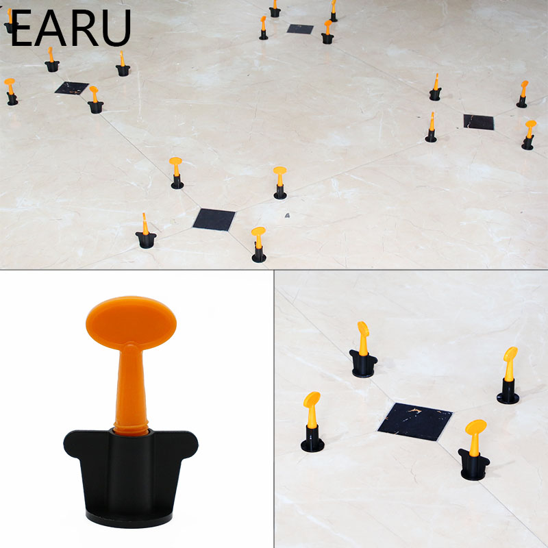 50pcs/set Level Wedges Tile Spacers For Flooring Wall Tile Spacer Carrelage Tile Leveling System Leveler Locator Spacers Plier