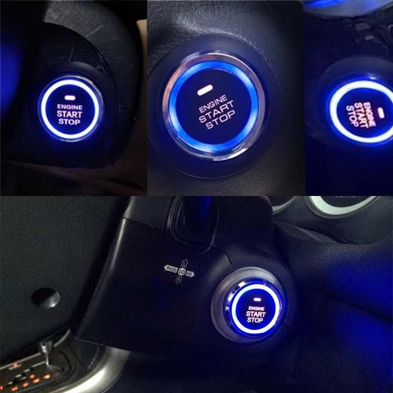 Topra 12V botón de parada de inicio de coche botón pulsador de arranque de motor alarma RFID bloqueo sistema sin llave pulsador de puerta botones táctiles