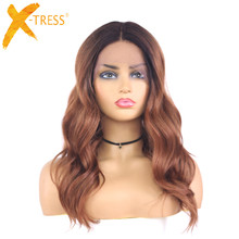 Synthetic Lace Front Wigs Ombre Blonde Natural Wave Black Bl