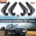 4 шт. Универсальные Брызговики Передние Задние для Dacia Dokker Duster Lodgy Logan Sandero Stepway Nova