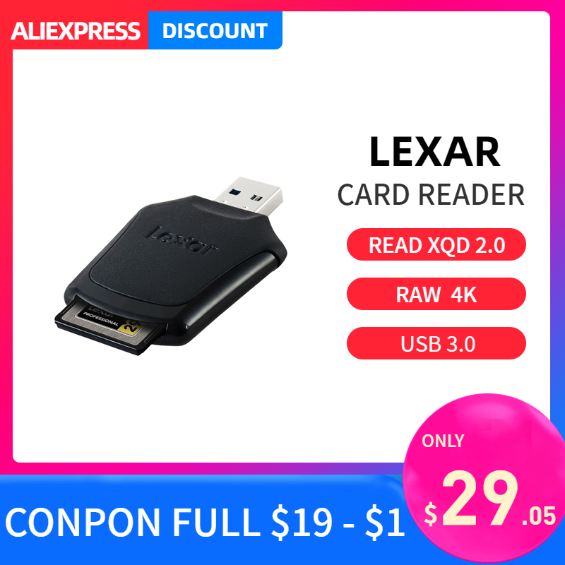 Lexar cf карта смарт-карта считыватель USB 3,0 Профессиональный XQD 2,0 высокоскоростной передачи файла быстро разгружать raw 4k видео для камеры