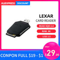 Lexar cf card smart Card Reader USB 3.0 Professional XQD 2.0 high speed transfer file quickly offload raw 4k video for camera