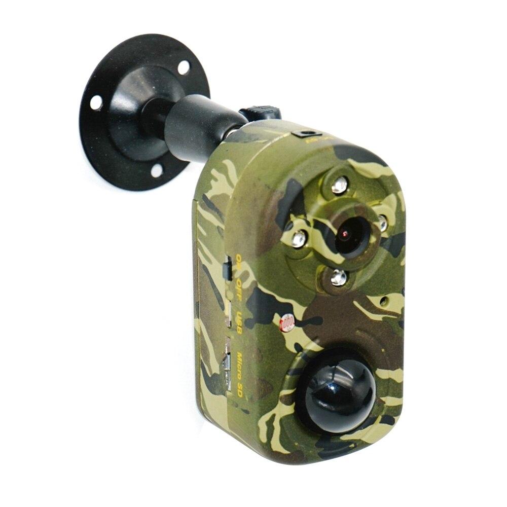 Mini câmera de caça movimento pir segurança